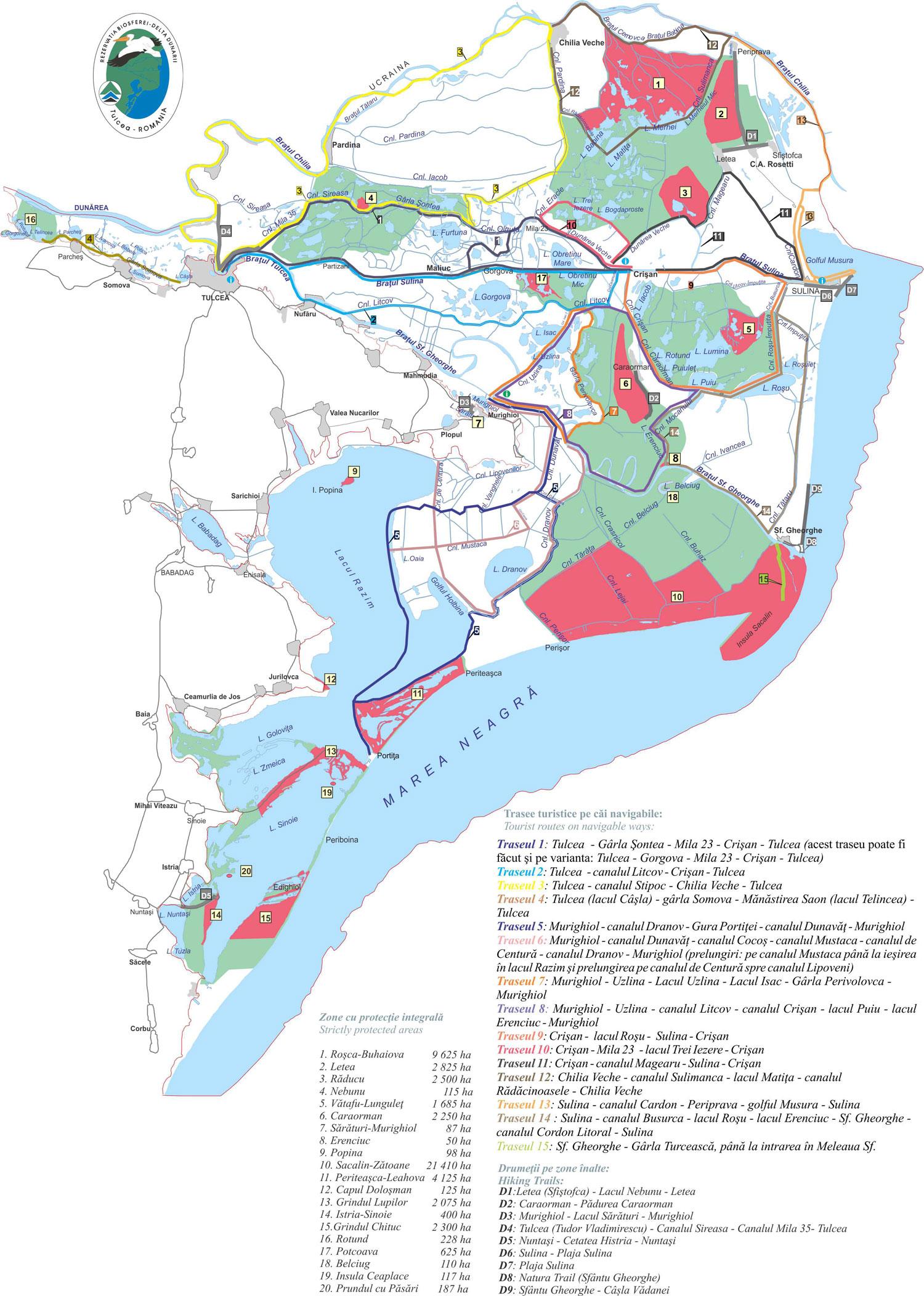 Trasee de vizitare si drumetii in Delta Dunarii